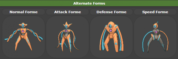 Deoxys' stats radically change with its different forms.